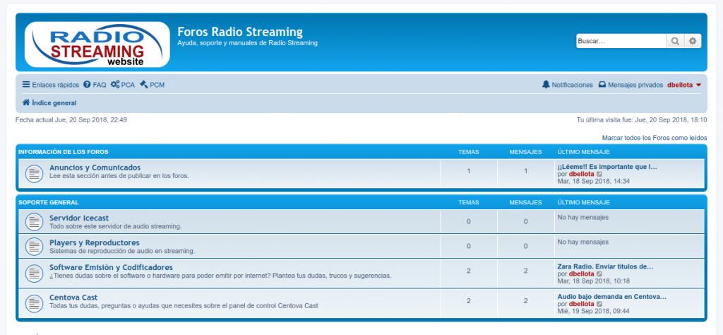 Foros de soporte streaming
